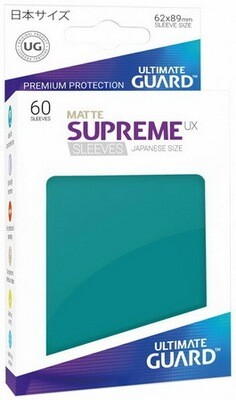 Ultimate Guard - Conf. 60 proteggicards Supreme UX Mini Matte Petrol