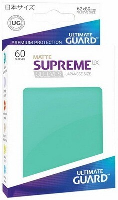 Ultimate Guard - Conf. 60 proteggicards Supreme UX Mini Matte Turchese [Teal]