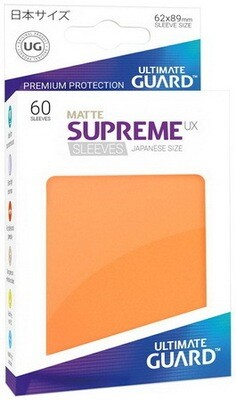 Ultimate Guard - Conf. 60 proteggicards Supreme UX Mini Matte Arancio