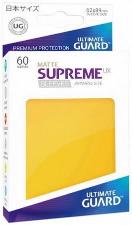 Ultimate Guard - Conf. 60 proteggicards Supreme UX Mini Matte Giallo