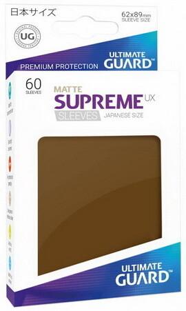 Ultimate Guard - Conf. 60 proteggicards Supreme UX Mini Matte Marrone