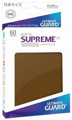 Ultimate Guard - Conf. 60 proteggicards Supreme UX Mini Matte Marrone