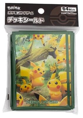 Proteggi carte standard pacchetto da 64 bustine Sword and Shield Pikachu Forest