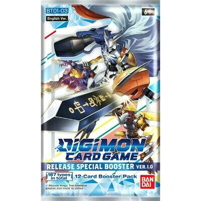 Busta Digimon Card Game BT01-03 Special Booster Ver. 1.0 -ENG -dal 29/01/2021
