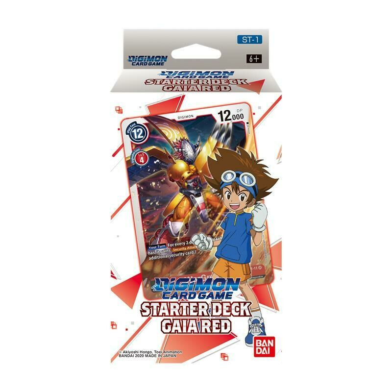 Starter Deck Digimon Card Game ST-1 Gaia Red -ENG- dal 29/01/2021