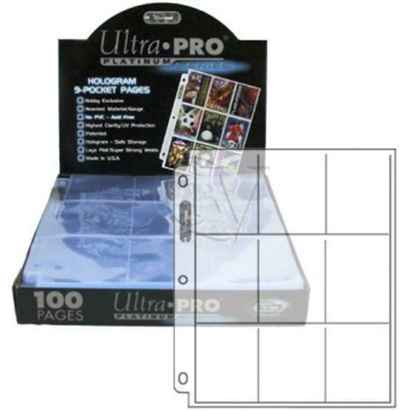 E-83423 Espositore 100 Fogli Trasparenti 9 Tasche Platinum