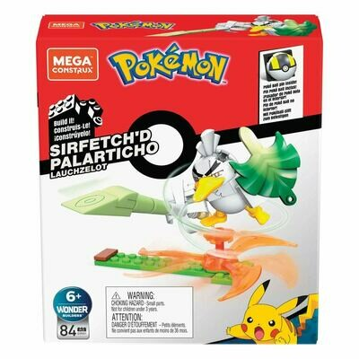Pokémon Mega Construx Wonder Builders Construction Set Sirfetch'd 10 cm  -dal28/02/2021