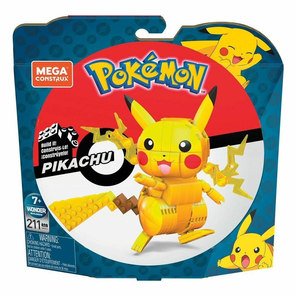 Pokémon Mega Construx Wonder Builders Construction Set Pikachu 10 cm  -dal28/02/2021