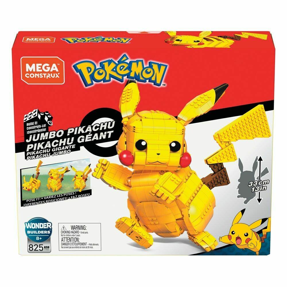 Pokémon Mega Construx Wonder Builders Construction Set Jumbo Pikachu 33 cm  -dal28/02/2021