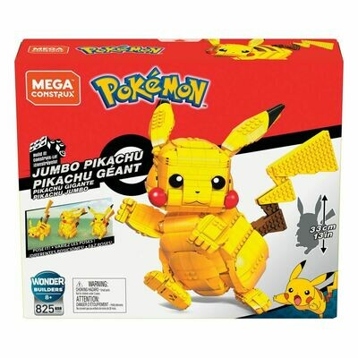 Pokémon Mega Construx Wonder Builders Construction Set Jumbo Pikachu 33 cm  -dal28/02/2021