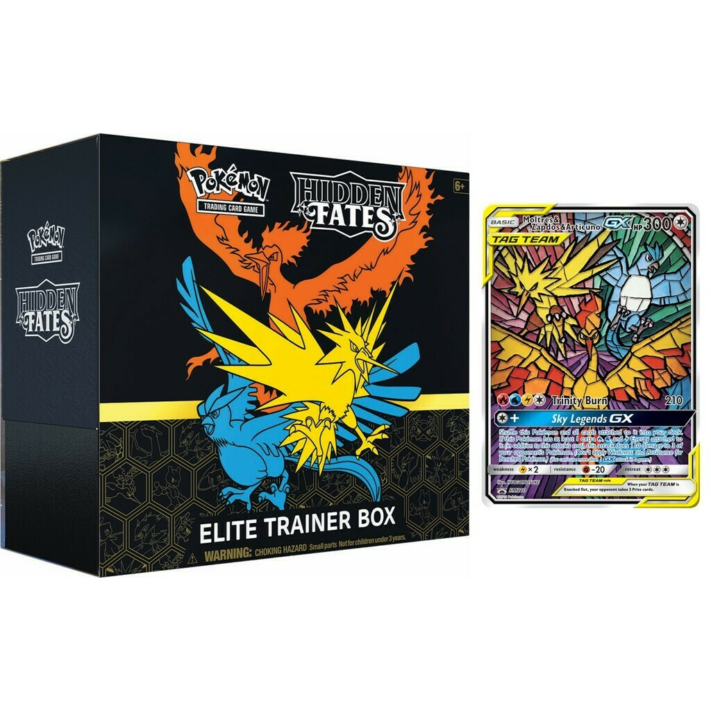 Pokemon- Elite Trainer Box - Hidden Fates (ENG) -reprint- dal 26/02/2021