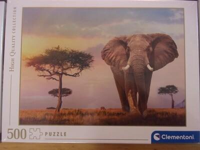 Puzzle 500 pz -elefante