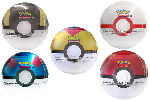 Tin Poke Ball 2021 assortito