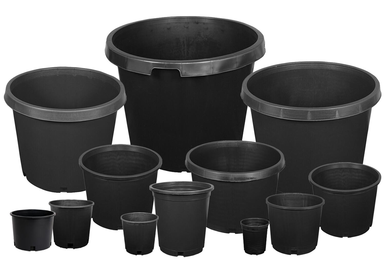 Gro Pro Black Plastic Pots
