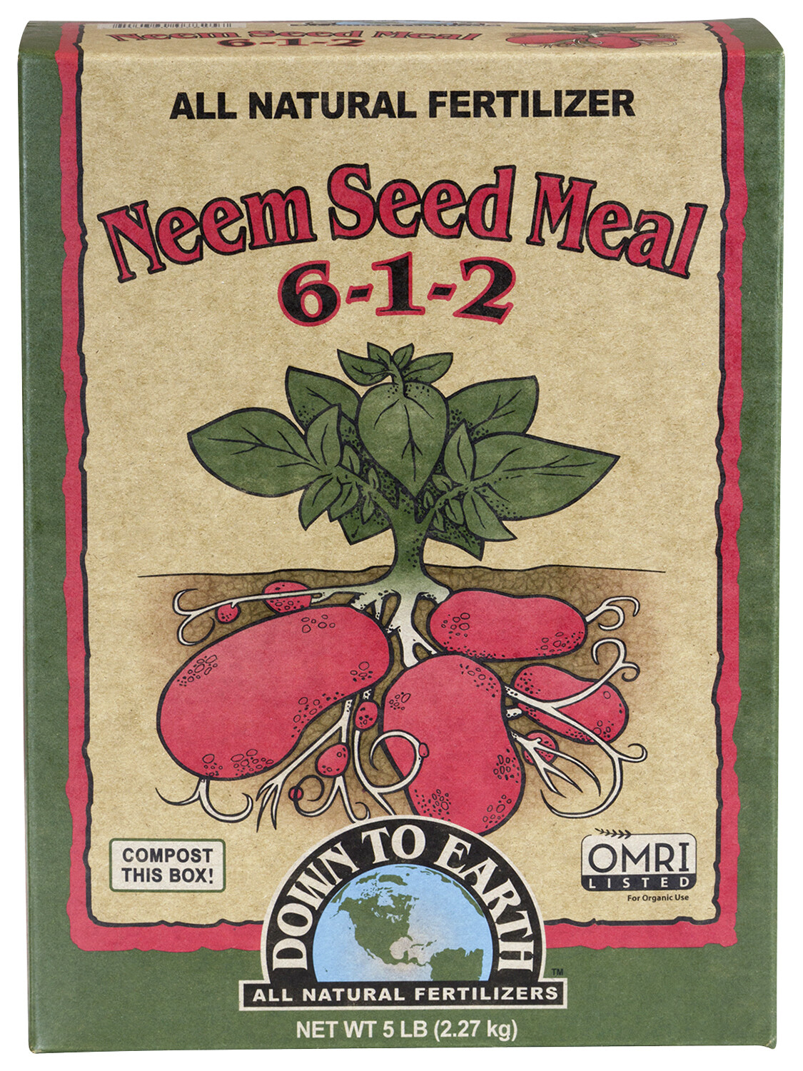 Down To Earth Neem Seed Meal