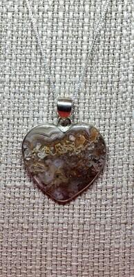 Laguna Lace Agate Heart pendant