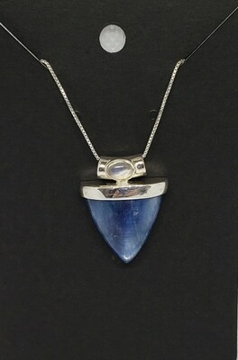 Kyanite with moonstone