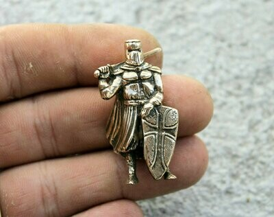 Medieval Knight With Sword On Shoulder