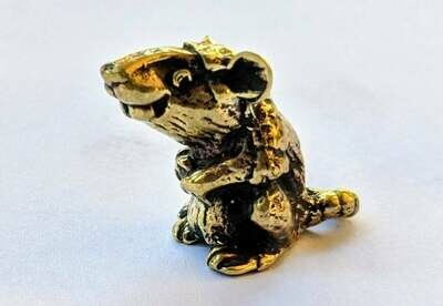 Brass Miniature Rat