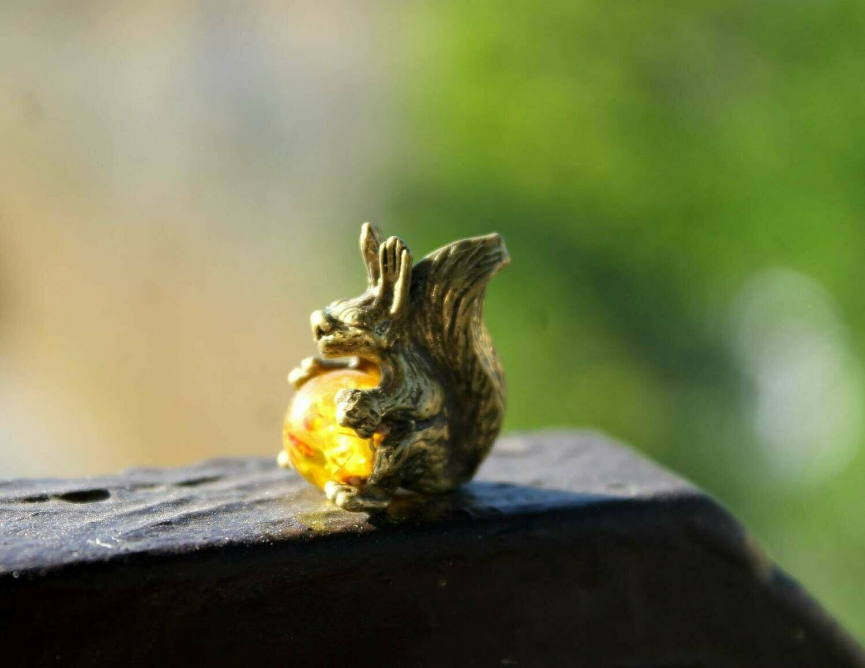 Squirrel With a Sun Ball