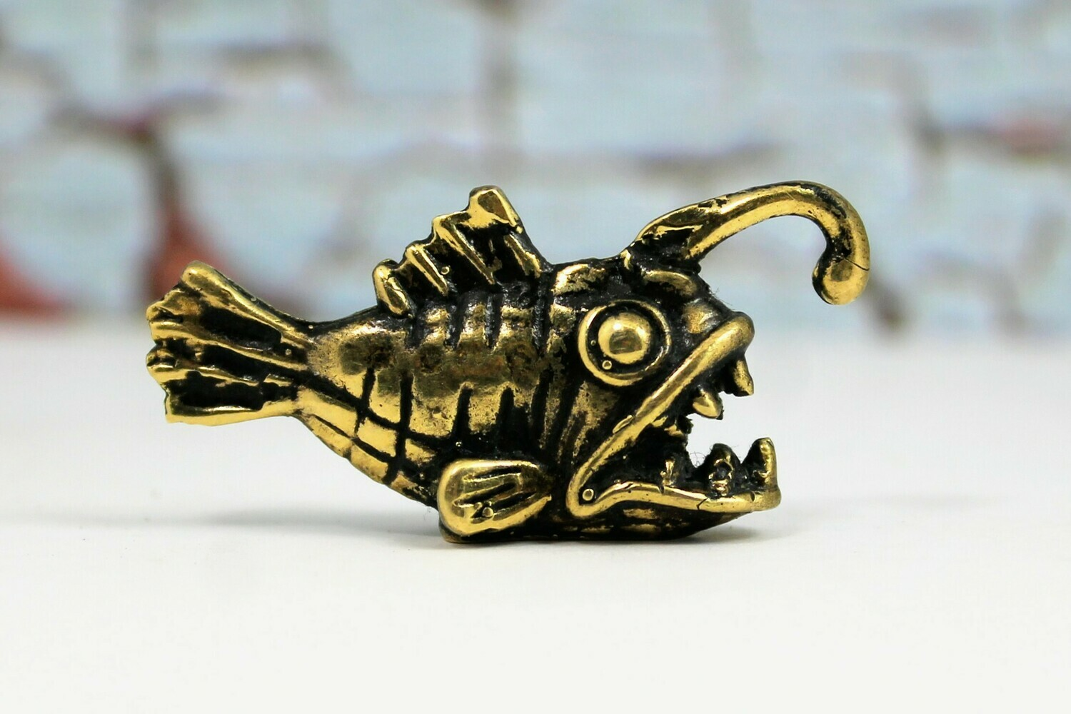 Anglerfish - Brass Collectible Handcrafted Tiny Figurine