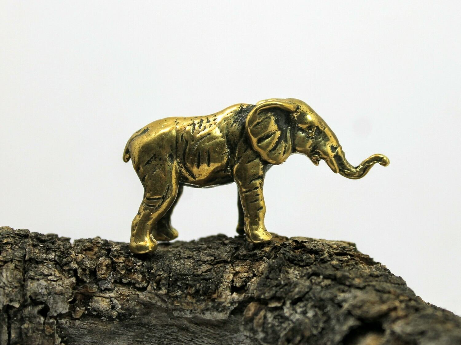 Brass Elephant Collectible Feng  Shui Miniature Art Handmade Figurine