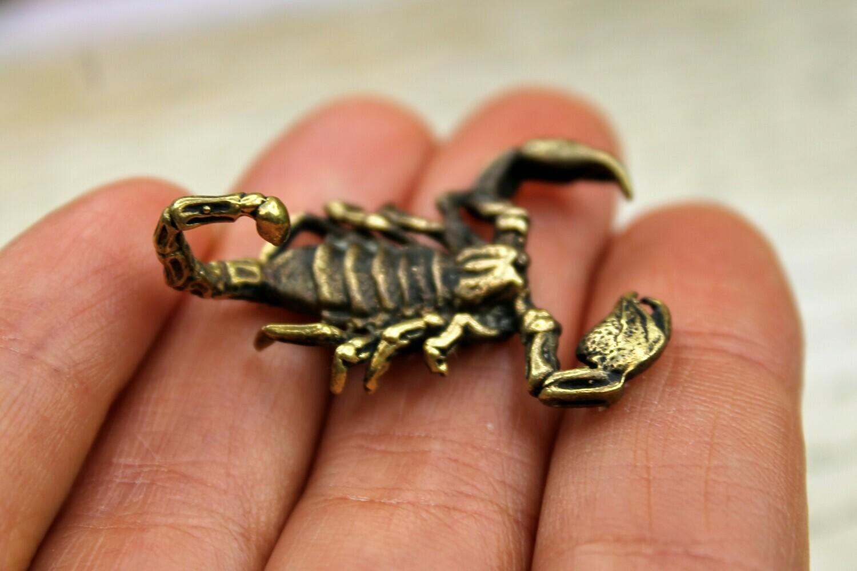 Scorpion - Brass Collectible Figurine Handmade Art Miniature