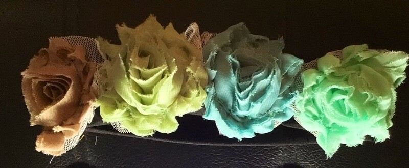 Flower headband, assorted colors