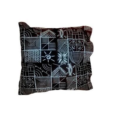 Blue on Black Square irọri/Pillow