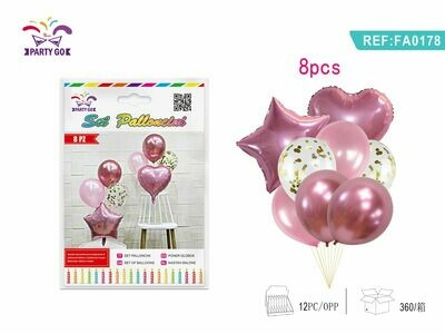 8PC SET PALLONCINI