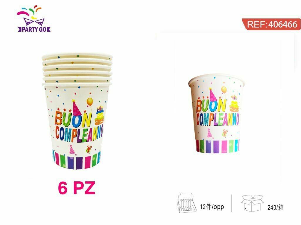 9ozBuon compleanno bicchiere di carta
