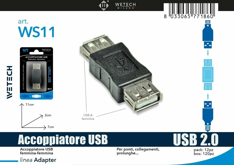 ACCOPPIATORE USB FEMMINA-FEMMINA 8033065771860 ACCOPPIATORE USB FEMMINA FEMMINA