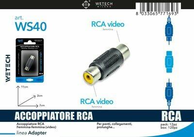 ACCOPPIATORE RCA VIDEO 8033065771693 ACCOPPIATORE RCA
