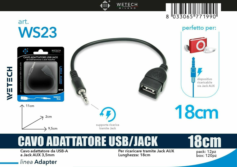 ADATTATORE AUDIO DA USB FEMMINA -JACK 3,5MM 8033065771990 ADATTATORE AUDIO DA USB FEMMINA -JACK 3,5MM
