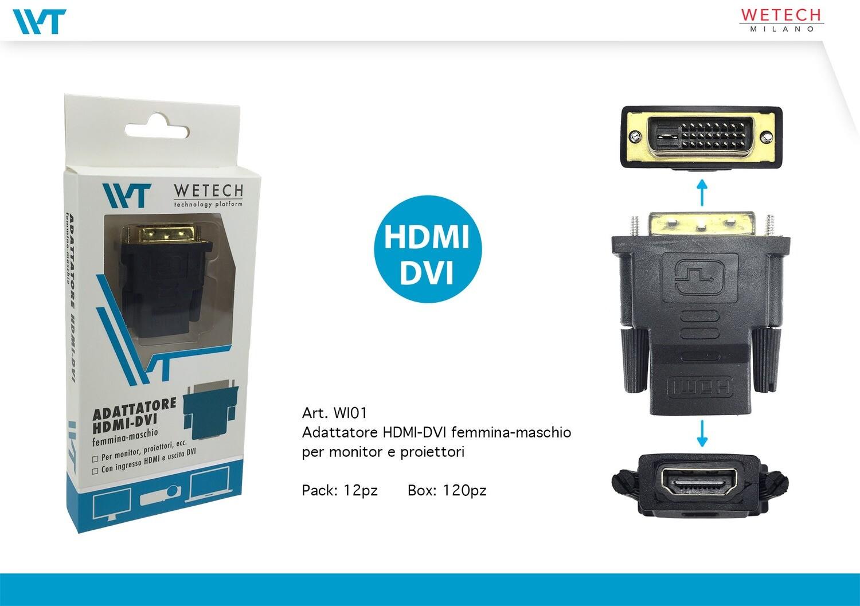 ADATTATORE HDMI-DVI 8033065760628 ADATTATORE HDMI DVI