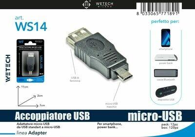 ADATTATORE USB FEMMINA-MICRO USB