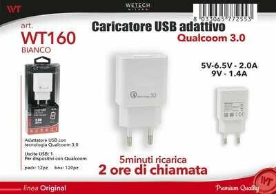 ADATTATORE USB QUICK CHARGE 3,0 2,0A 8033065772553 ADATTATORE USB QUICK CHARGE 3,0 2 0A