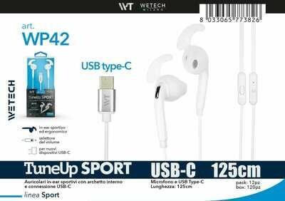 AURICOLARI IN-EAR SPORTIVI CON CONNESSIONE USB-C 8033065773826 AURICOLARI IN-EAR SPORTIVI CON CONNESSIONE USB-C