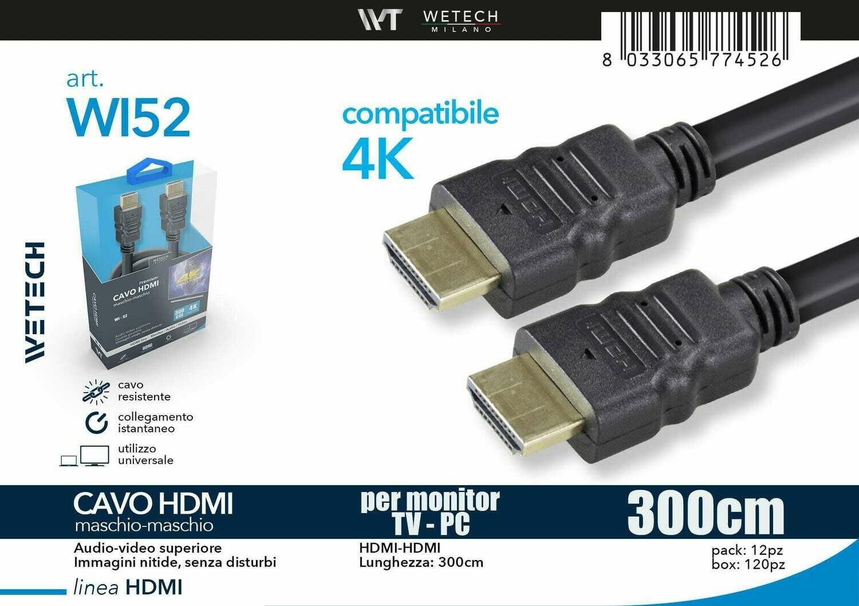 CAVO HDMI 3,0MT 4K 8033065774526 CAVO HDMI 3,0MT 4K