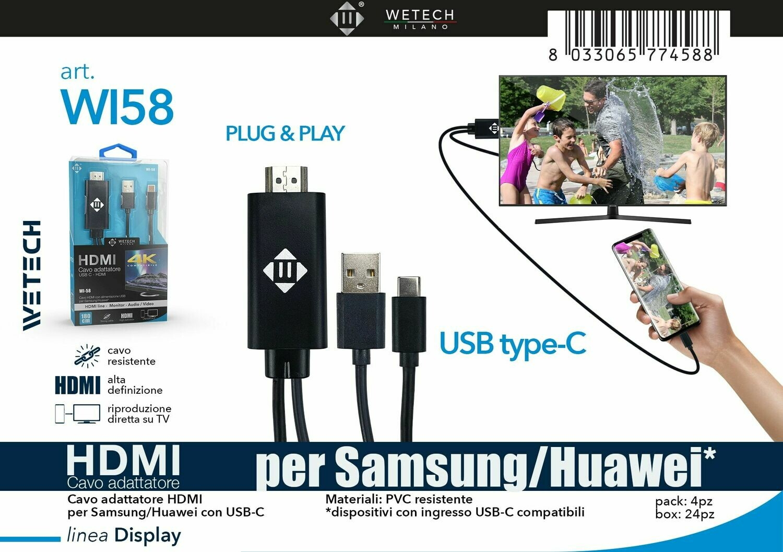 Cavo adattatore HDMI da USB-C 180cm