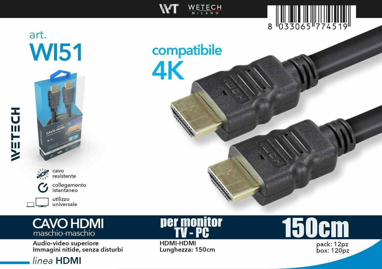 CAVO HDMI 1,5MT 4K 8033065774519 CAVO HDMI 1,5MT 4K