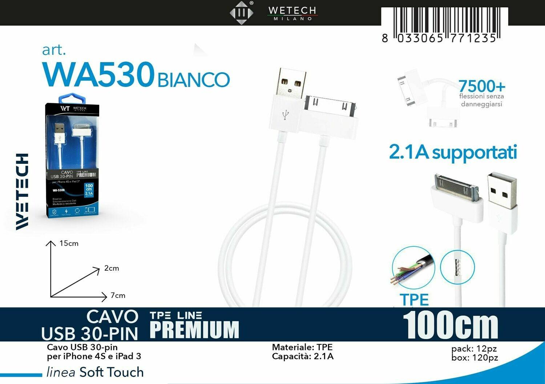 CAVO IP4/4S/IPAD3  2,1A 100CM 8033065771235 CAVO IP4/4S/IPAD3  2,1A CAVO