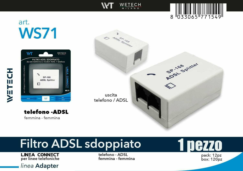 FILTRO ADSL SDOPPIATO 8033065771549 FILTRO ADSL SDOPPIATO