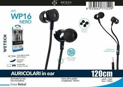 AURICOLARE IN-EAR CON MICROFONO  CAVO ULTRA-PIATTO 8033065773529 AURICOLARE IN-EAR CON MICROFONO  CAVO ULTRA ULTRA