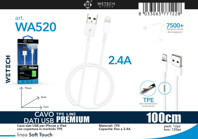 CAVO LIGHTNING PREMIUM 2,1A 100CM 8033065771228 CAVO LIGHTNING PREMIUM 2,1A 100CM