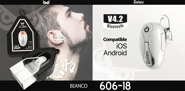 RLJ601 MONO HEADSET BLUETOOTH  4,2 BIANCO 8033065606162 RLJ601 MONO HEADSET BLUETOOTH  4,2 BIANCO