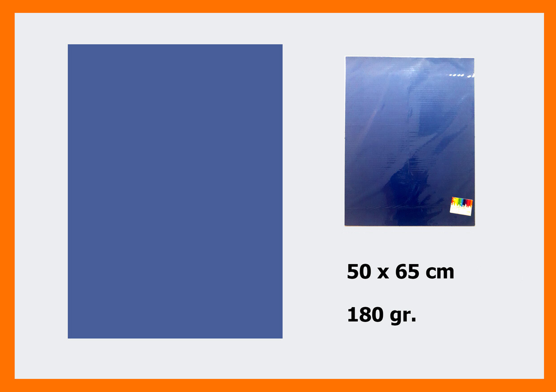 CARTONCINO BLU SCURO 50X66CM 180G