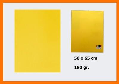 CARTONCINO GIALLO CHIARO 50X65CM 180G