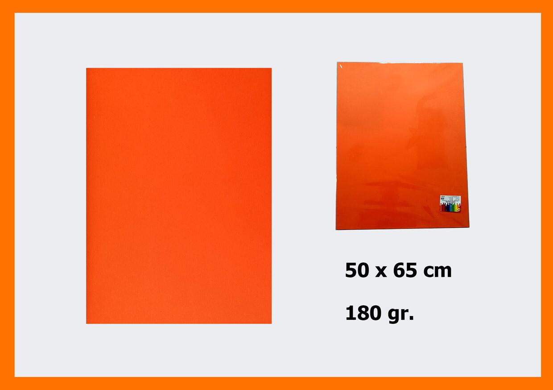 CARTONCINO ORANGE 50X66CM 180G