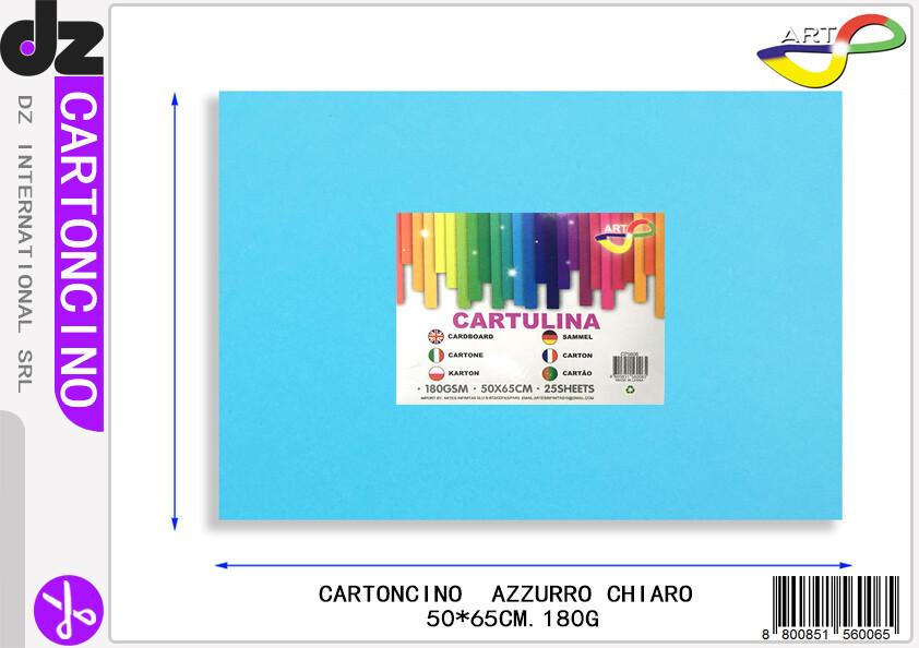 CARTONCINO BLU CHIARO 50X65CM 180G